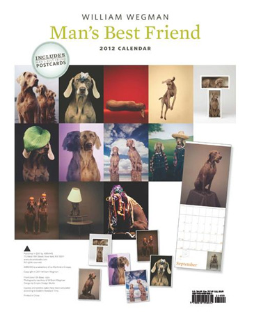 calendrier 2012 par William Wegman